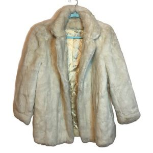 Vintage Tissavel France Ivory Faux Fur Snow Coat